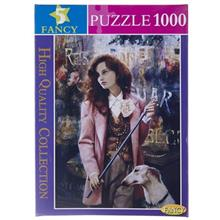 Fancy Girl In Pink Coat 1000Pcs Puzzle